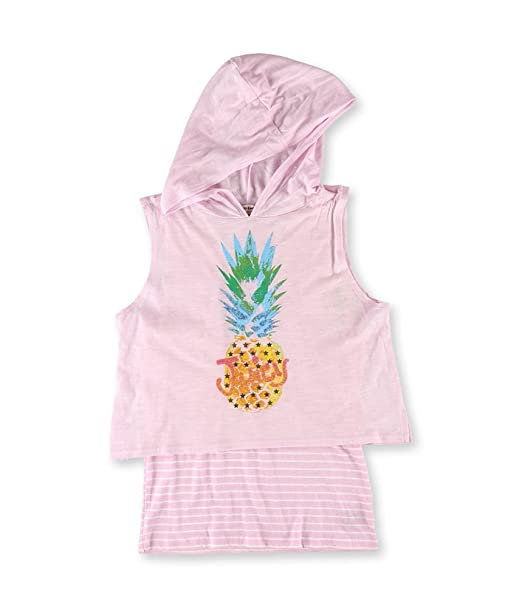 3c106886 Amazon.com: Juicy Couture Girls Mock Layer Graphic T-Shirt pinepink ...