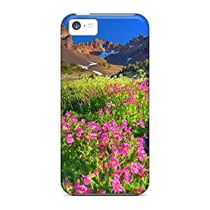 (DwKaQJt1767xkptl)durable Protection Case Cover For Iphone 5c(field Flowers)