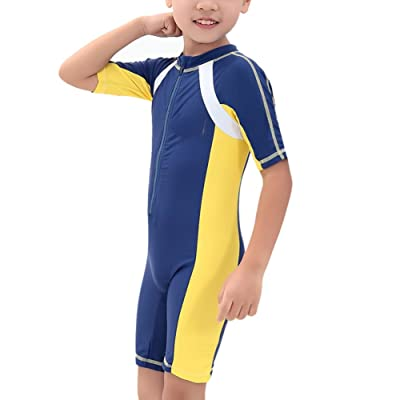 Boys Sunscreen Quick Drying Uv Protection One-piece Swimsuit