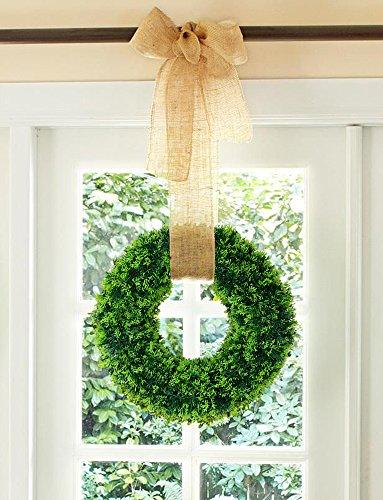 Lvydec Artificial Green Leaf Wreath - 15