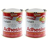 2 Piece 750Ml Stick 2 Instant All Purpose High Strength Bond Contact Adhesive by Everbuild