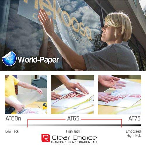 Rtape at65 Clear Choice Vinyl Film Outdoor Vinyl Application Tape 12'' x 100' Roll