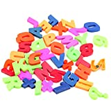 Tangc Lovely Letters & Numbers Teaching Magnetic Fridge Magnets Alphabet Set Of 42 Colorful
