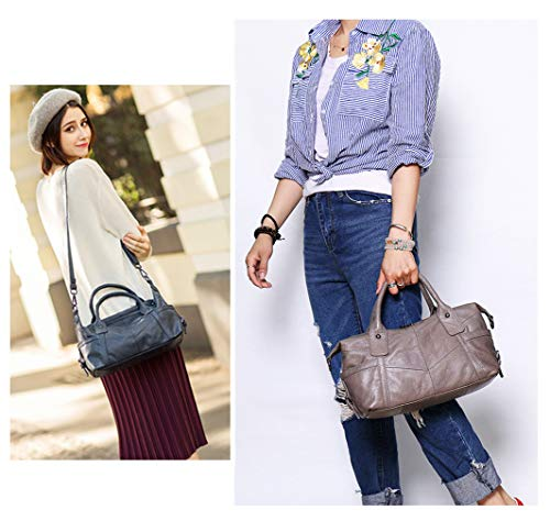Capacity Leather Handbag Handbags Shoulder Off Off Top Womens White SAIERLONG for Slouch white Handle 6qTBZwaw