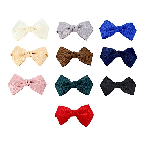 Hair Metal Costume Ideas (Kimi&Yoyo Grosgrain Ribbon Boutique Hair Bows Clips For Baby Girls (Pack of 10))