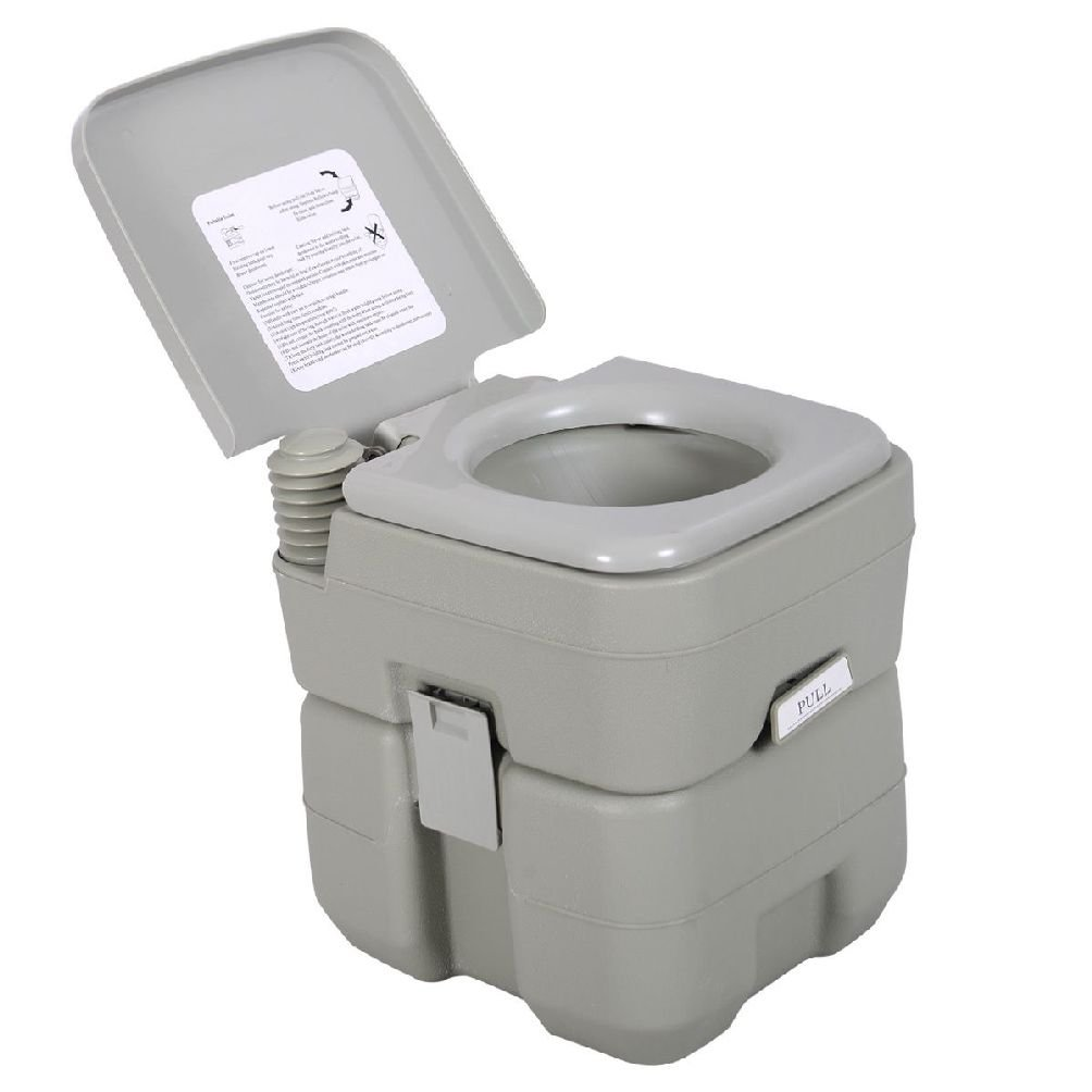 5 Gallon 20L Portable Toilet Flush Travel Camping Outdoor/Indoor Commode Potty by Chongfu Home Series