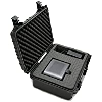 CASEMATIX Portable Projector Carry Case Fits Nebula Mars Projector , HDMI Cable , Power Adapter , Remote and More - Waterproof Travel design With Customizable Pick and Pluck foam