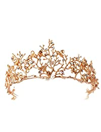 Vintage Wedding Bridal Hair Accessories Bridesmaid Gold Dragonfly Women Girls Tiara Crown Headbands