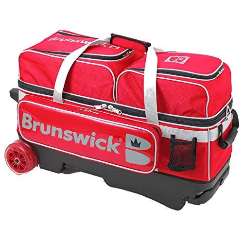 最新 ブランズウィック レッド 3個入りバッグ Bisou(ビズ)-Tキャリー 3個入りバッグ 全3色 レッド 全3色 B07NCY951P, 雑貨カンカン:959f7e28 --- 4x4.lt