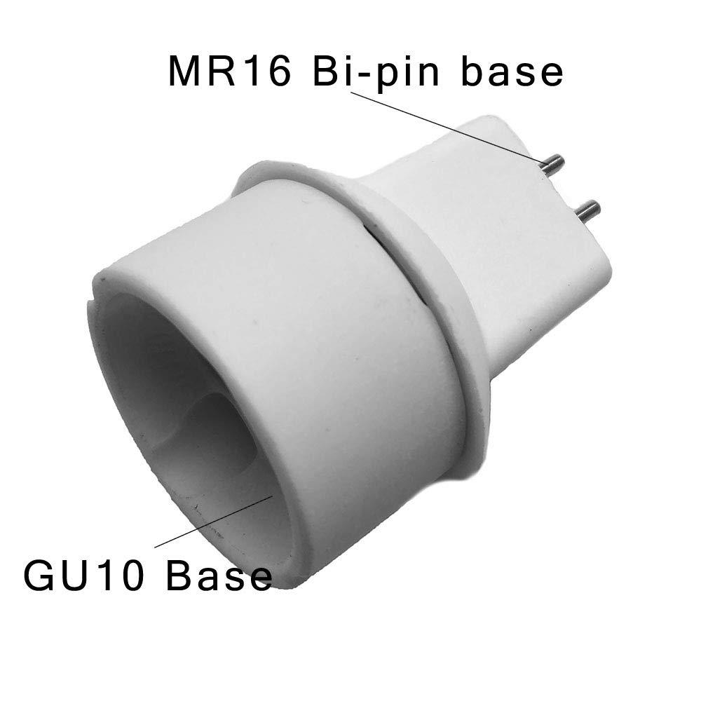 FINELED GU10 to MR16 GU5.3 Adapter Converters Light Sockets Lamp Holder 6 PACK