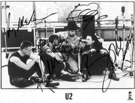 U2 Full Band Autographed Preprint Signed 11x14 Poster Photo -