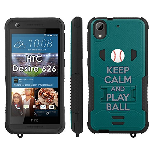 Flak Jacket Dual Armor with Kick-stand Phone Cover, Keep Calm and Play Ball - Seattle - Mobiflare HTC Desire 626 Flak Jacket Dual Armor with Kick-stand Phone (Mariners Flak Jacket)