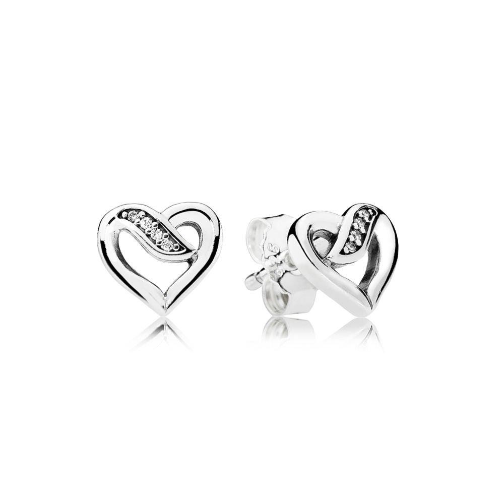 e7ba3d99591ac Ribbon of Love Pandora Stud Earrings 290736CZ with Packaging
