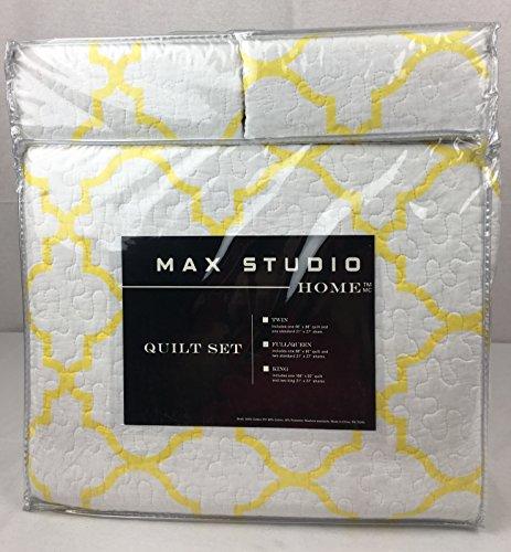 """Max Studio Home Cotton FULL/QUEEN Quilt Set """"Caravan Geo"""""""