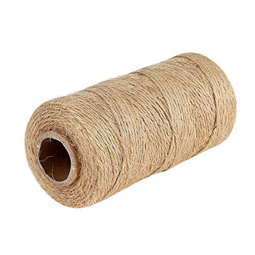Natural Jute Gift Twine String,Valentine Gift Twine String for Gift Wrapping Arts Crafts Twine 328 Feet Jute Rope Cord