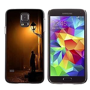 Paccase / SLIM PC / Aliminium Casa Carcasa Funda Case Cover - Cobblestone Yellow Romantic - Samsung Galaxy S5 SM-G900