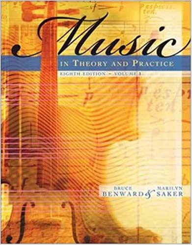 music in theory and practice vol 1 v 1 bruce benward marilyn