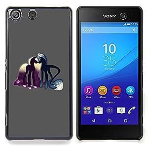 "Qstar Arte & diseño plástico duro Fundas Cover Cubre Hard Case Cover para Sony Xperia M5 E5603 E5606 E5653 (Pony Amor del caballo cuento de hadas Sueños Arte Simbólico"")"