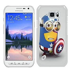 Unique Samsung Galaxy S6 Active Skin Case ,Minion Captain America white Samsung Galaxy S6 Active Cover Fashionable And Durable Designed Phone Case