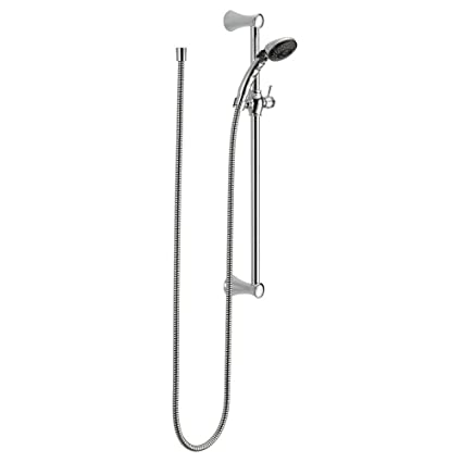 Delta 57011 2 Spray Slide Bar Hand Held Shower With Hose, Chrome