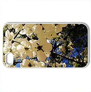 spring love - Case Cover for iPhone 4 and 4s (Flowers Series, Watercolor style, White)