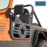 EAG Military Star 2 Tubular Doors With Side View Mirrors 76-96 Jeep Wrangler CJ7/YJ