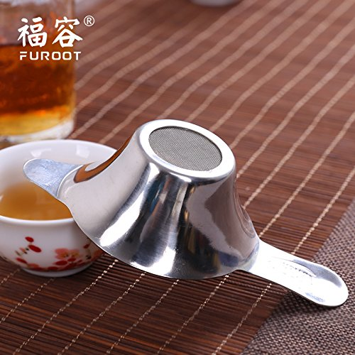 Funnytoday365 Boling Stainless Steel Double-Layer Fine Tea Strainer Stainless Tea Strainer Stainless Steel Mesh