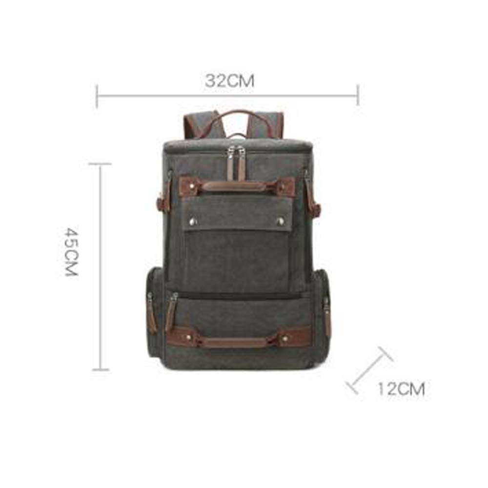 Bangxiu Male Travel Big Mochila Outdoor de Sports Travel Bag Multifunción de Outdoor Gran Capacidad a Prueba de Agua Mochila (Color : Gris Oscuro) 0ec72a