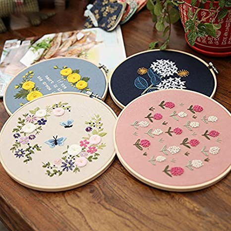 3Pcs DIY Modern Hand Embroidery Kit Embroidery Sampler for Beginners Adults