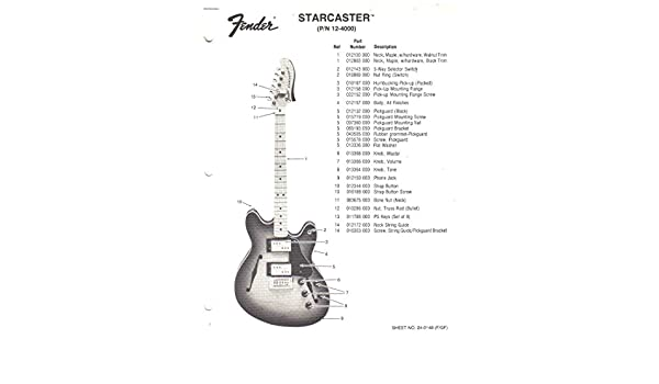 Fender Starcaster Electric Guitar Parts List Electronics Sunn Amazon Books: Starcaster Electric Guitar Wiring Diagram At Executivepassage.co