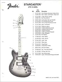 Electric Guitar Parts Guide : fender starcaster electric guitar parts list fender electronics sunn books ~ Vivirlamusica.com Haus und Dekorationen