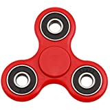 Ubitree Hand Spinner Fidget Tri Spinner EDC Focus Toy for Whole age section 9 colour (red)
