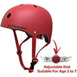 KIDS BIKE HELMET – Adjustable from Toddler to Youth for Boys and Girls Ages 3 To 7 - Multi-Sport for Bike Skateboard Cycling Skate Scooter Roller Bicycle - Certified for Safety and Comfort (Red)