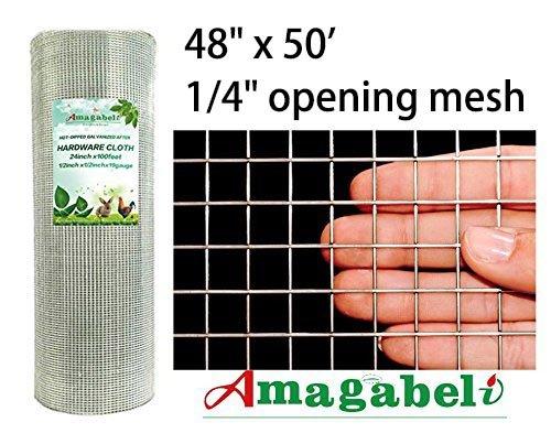 48x50 Hardware Cloth 1 4 Inch Square Galvanized Chicken