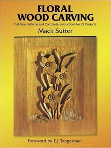 Floral wood carving: full size patterns and complete instructions