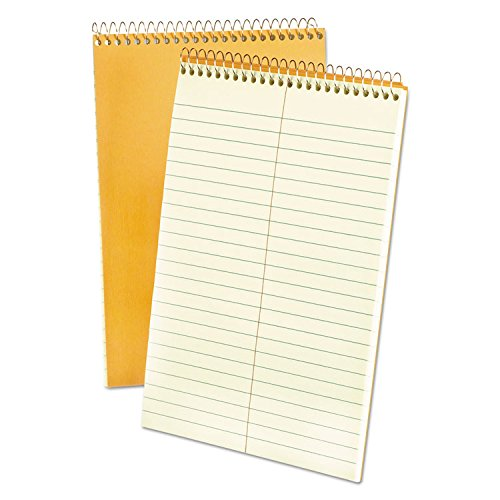 Ampad 25278 Spiral Steno Book, Gregg, 6 x 9, 20 lb, Green Tint, 80 Sheets (Pack of 6) by Ampad