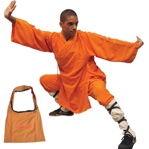 Shaolin Monk Robe - Orange - Medium