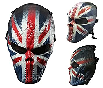 Airsoft calavera cara llena máscara de protección Militar protección Paintball Halloween disfraz htuk®, England