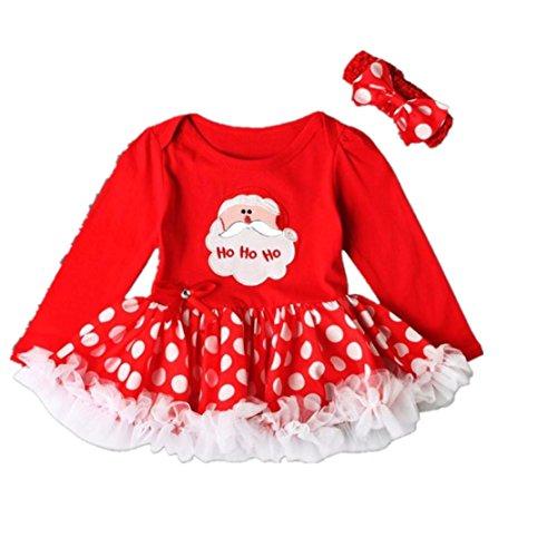 Diy Princess Tutu Costumes (SEXYP Christmas Toddler Newborn Baby Girls Letter Princess Tutu Dress Outfits (12Months))