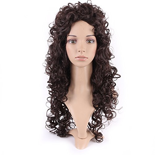 [Heat Resistant Synthetic Wig Japanese Kanekalon Fiber 70 Styles Full Wig Long Hair Full Head for Women Girls Lady Fashion and Beauty,26'' / 26 inch,#2 Dark] (Perm Wigs)