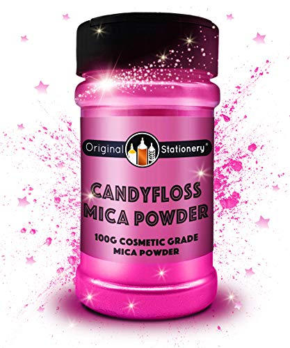 Mica Powder - 3.5 oz / 100 g [HUGE x3-5 THE SIZE OF OUR COMPETITORS] Cosmetic Grade - True Colors - Beautiful Mica for Slime, Soap Making, Bath Bombs, Make-up, Nails, Decor (Candyfloss)