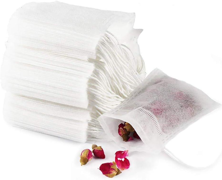 GIYOMI Tea Filter Bags, Disposable Empty Tea Bags, Loose Leaf Tea Infuser, Safety and Environmental Food-Grade Drawstring Tea Bags, Set of 100(4