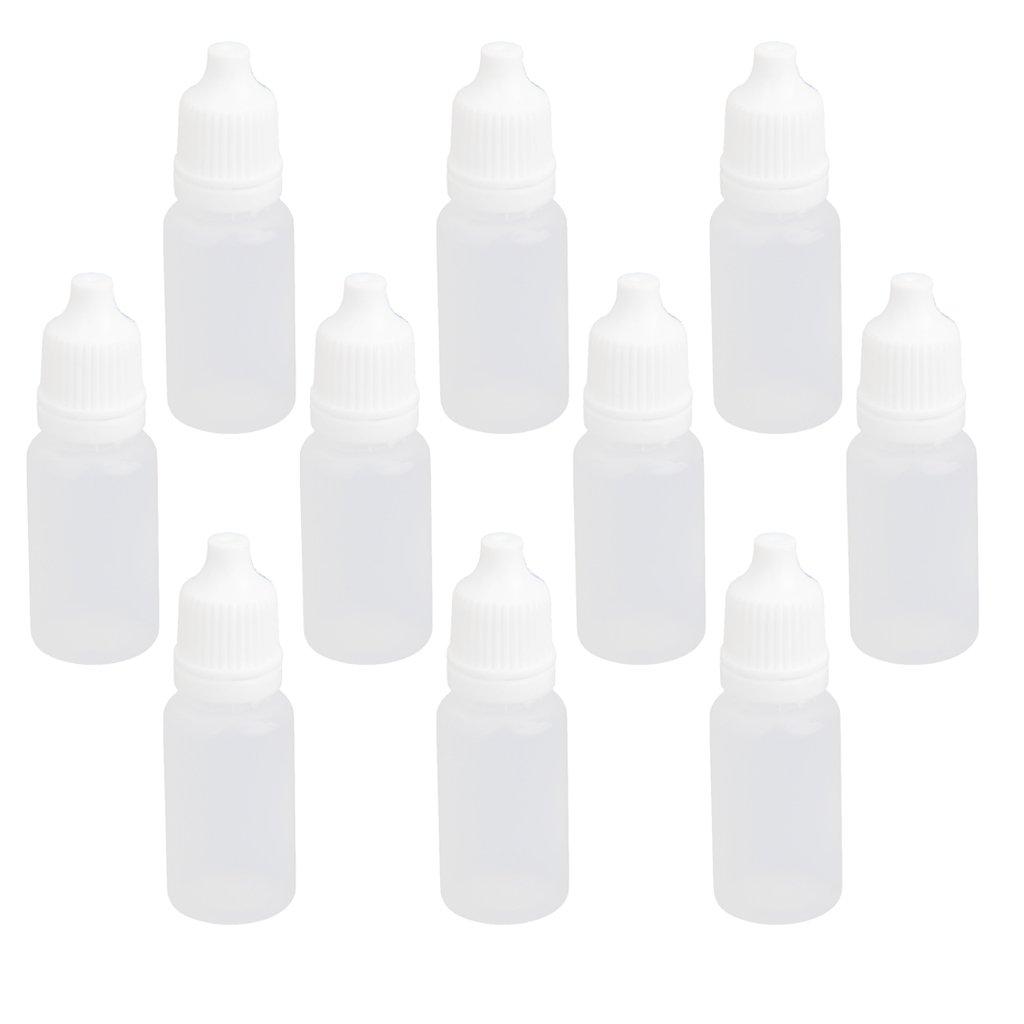 10pz 10ml Plastica Bottiglie Vuote Contagocce Comprimibili Per Collirio Laboratorio Liquido Generic STK0114014004