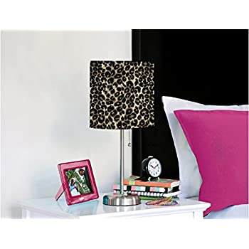 Rock Your Room Animal Print Metal Table Lamp Cheetah