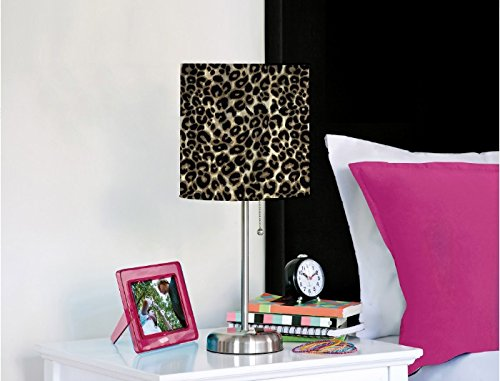 Rock Your Room Animal Print Metal Table Lamp, Cheetah