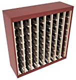 Wine Racks America Ponderosa Pine 64 Bottle Two Tone Deluxe (Cherry Stain/Natural) Review