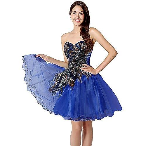 Royal Blue Dress Short Puffy: Amazon.com