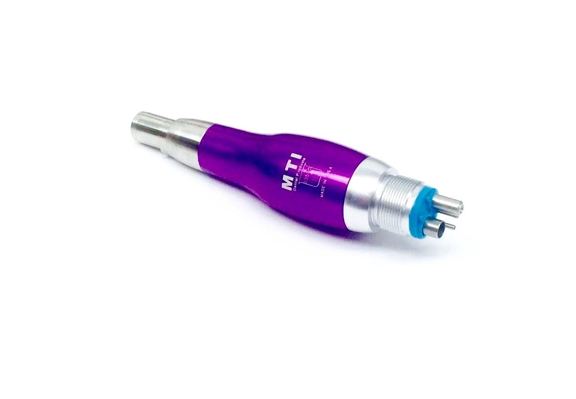 MTI Dental 50250-06 Prophy Airlite MTI Low Speed Motor, Polishing Handpiece, Fixed 4 Hole, 3,500K, Purple