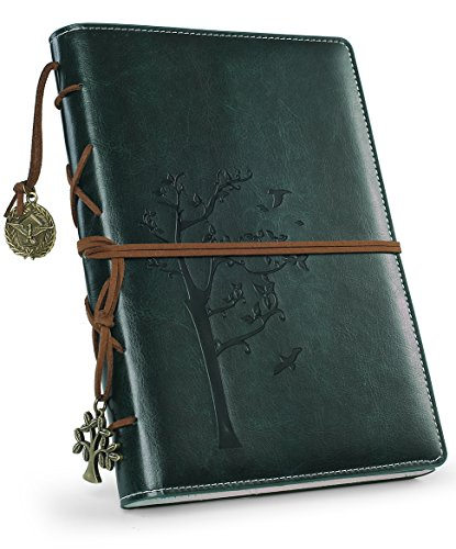Refillable Writing Journals,Vintage Faux Leather Bound Notebook for Women with Lined Paper,Daily Use Gifts for Teachers/Girls/Travelers/Bloggers-Tree of Life Small - Faux Leather Vintage