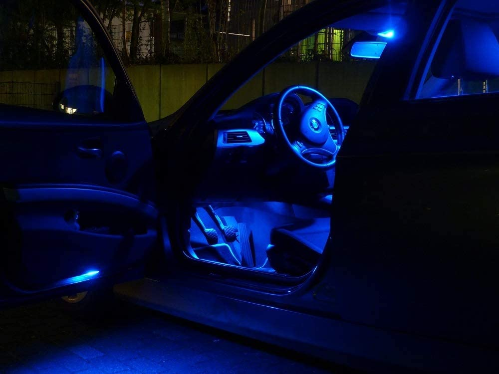 3x ampoules /à LED /éclairage de voiture lampes de lhabitacle BLEU jeu d/éclairage int/érieurs de Pro!Carpentis compatible avec Twingo II et III